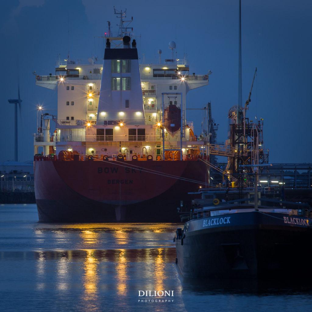 Vessel in harbor